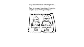 Irregular Plural Nouns Game: BURIED TREASURE