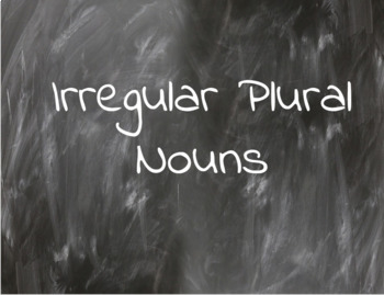 Irregular Plural Nouns- Google Slides and Powerpoint