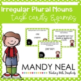 Irregular Plural Nouns Grammar Task Cards, Games, and Centers