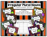 Irregular Plural Nouns Halloween Scoot