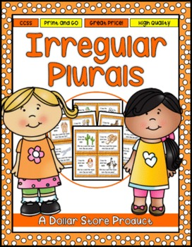 """Irregular Plural Nouns """"I Have Who Has"""" Read Around Game"""