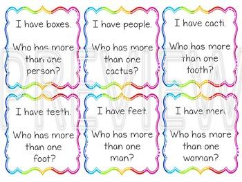 Irregular Plural Nouns - I have... Who has?
