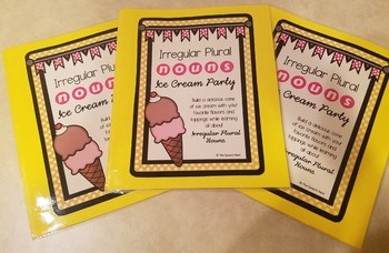 Irregular Plural Nouns Ice Cream Party Activity