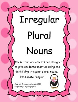 Irregular Plural Nouns Language Skills