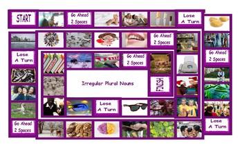 Irregular Plural Nouns Legal Size Photo Board Game