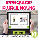 Irregular Plural Nouns NO PRINT Interactive Book for Speec