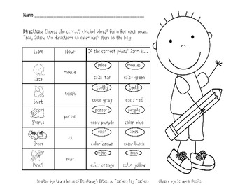 Irregular Plural Nouns Packet (Common Core Aligned L.2.1 b)