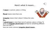 Irregular Plural Nouns Powerpoint