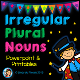 Irregular Plural Nouns PowerPoint and Worksheets