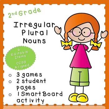 Irregular Plural Nouns Practice-EDITABLE! (second grade)