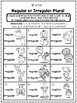 Irregular Plural Nouns - Print and Go Unit