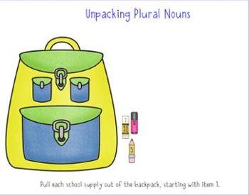 Irregular Plural Nouns SMARTboard lesson (Common Core L.2.1 b)