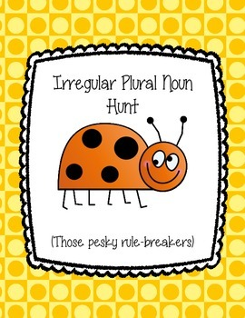 Irregular Plural Nouns Scavenger Hunt