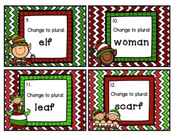 Irregular Plural Nouns Scoot Christmas