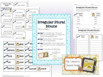 Irregular Plural Nouns Set