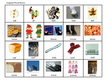 Irregular Plural Nouns, Speech Language Therapy, Grammar Photos