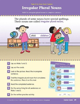 Irregular Plural Nouns (Take It to Your Seat Centers: Common Core Language)