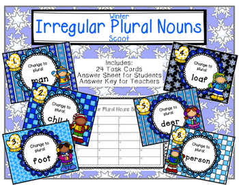 Irregular Plural Nouns Winter Scoot
