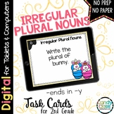 Irregular Plural Noun Task Cards - Ends in Y - Digital for Google Use