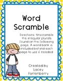 Irregular Plural Word Scramble Freebie!
