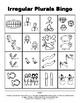 Irregular Plurals BINGO Make & Take, SPEECH THERAPY, Language