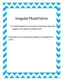 Irregular Plurals Flash Cards