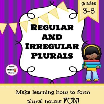 Regular and Irregular Plurals Game/Sort Pack