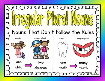 Irregular Plurals Literacy Activities
