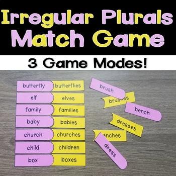 Irregular Plurals Match Game