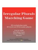 Irregular Plurals Matching Game