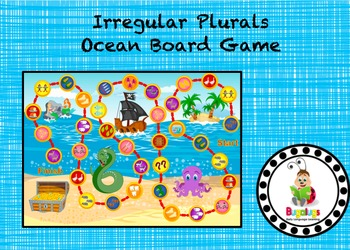 Irregular Plurals Ocean Board Game