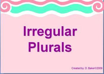 Irregular Plurals Power Point Presentation