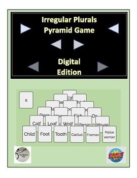 Irregular Plurals Pyramid Game