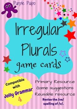 Irregular Plurals Set 1 Game Cards.