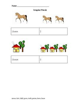 Irregular Plurals Worksheet