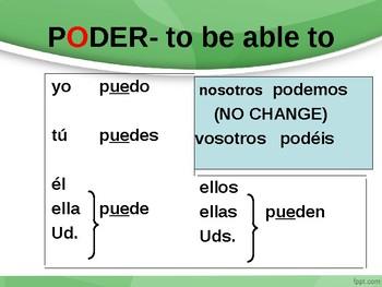 Irregular Present Tense Stem-changing Verb Conjugation Lesson