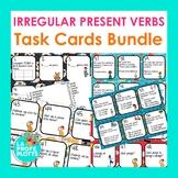 Irregular Present Tense Verbs Task Cards Bundle (JUGAR, SER, IR, TENER, ESTAR)