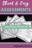 Irregular Preterite Assessment