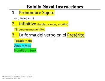 Irregular Preterite - Battleship