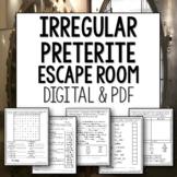 Irregular Preterite Break Out Escape Room for Spanish