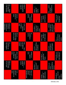 Irregular Preterite Checkerboard