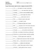 Irregular Preterite Spanish Verbs Quiz