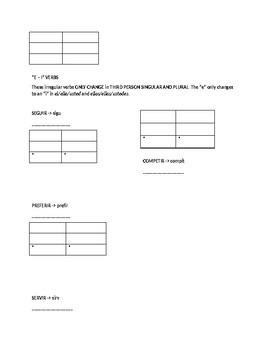 Irregular Preterite Tense Guided Notes and Practice