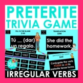 Irregular Preterite Tense Verbs Jeopardy-Style Trivia Game