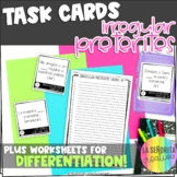 Irregular Preterite Verbs Task Card Activity and Worksheet 1