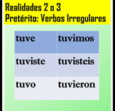 Realidades 2 Chapter 3A Irregular Preterite Verbs Worksheet Spanish 2 or 3
