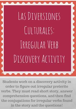 Irregular Preterite and Imperfect Discovery Activity: Las Diversiones Culturales