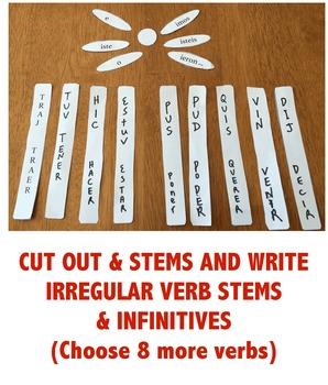 Irregular Preterite tense verbs activity