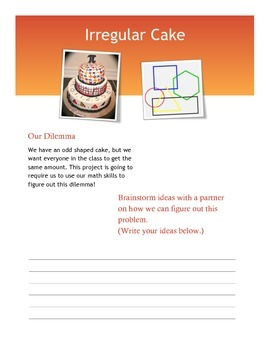 Irregular Shape Cake Project Guided Notes