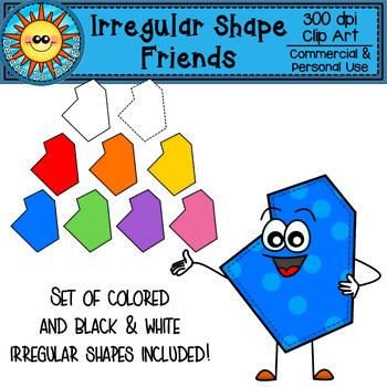 Irregular Shape Friends Clip Art